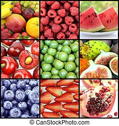 délicieux, fruits