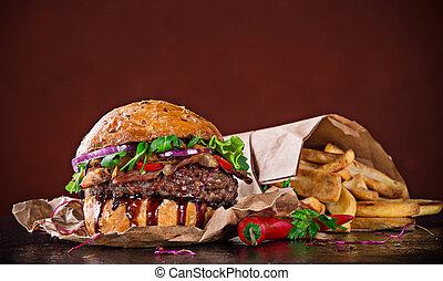 délicieux, hamburger
