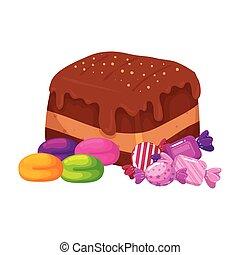 délicieux, lutin, bonbons, chocolat