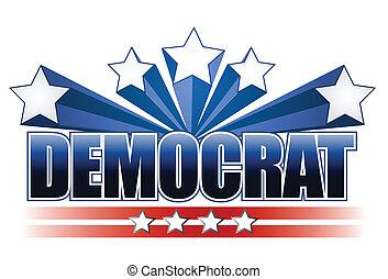 démocrate, signe