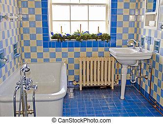 démodé, salle bains