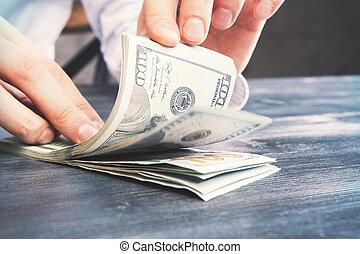 dénombrement, billets dollar