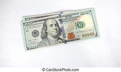 dénombrement, homme, gros plan, argent, sien
