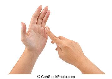 dénombrement, mains