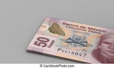 dénombrement, pesos mexicains