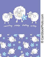 dénombrement, sheep.
