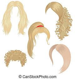 dénommer cheveux, blonds