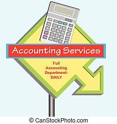département, comptabilité, signe