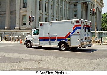 département, trésorerie, rue, washington, ambulance