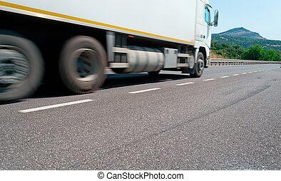 dépassement, camion