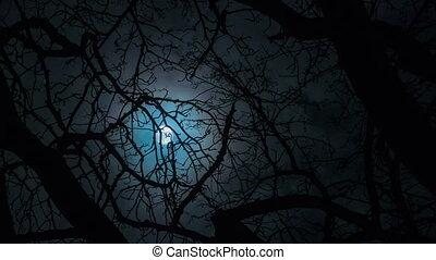 dépassement, entiers, nuages, lune