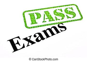 dépassement, examens