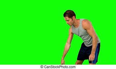 dépassement, joueur, boule basket-ball
