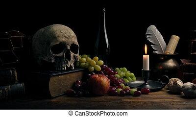 dépassement, nature morte, classique, arrangement