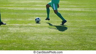 dépassement, quoique, football, pratiquer, balle, 4k,...