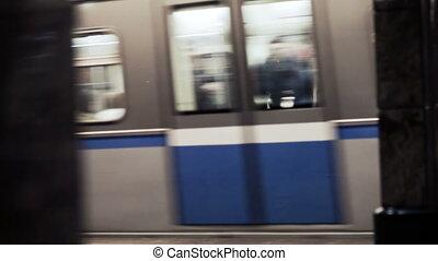 dépassement, train, métro