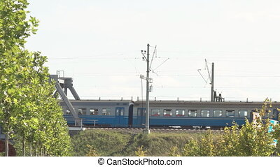 dépassement, train, passager