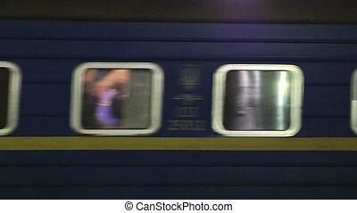 dépassement, train passager