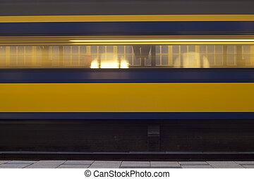 dépassement, train