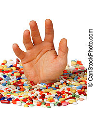 dépendance, concept, drogue