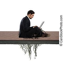 dépendance, concept, internet