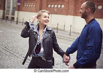 dépenser, couple, agréable, ensemble, temps