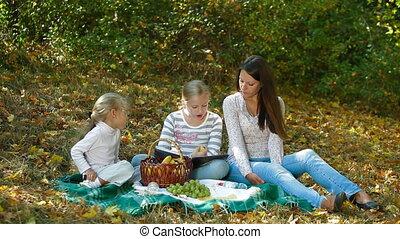 dépenser, famille, ensemble, temps