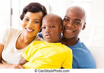 dépenser, famille noire, ensemble, temps