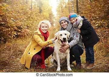 dépenser, heureux, activement, temps famille