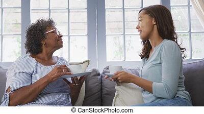 dépenser, maison, ensemble, mélange, personne agee, temps, ...