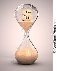dépenser, ou, argent, dehors