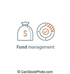 dépenses, mutuel, gestion financière, budget, long, investissement, stratégie, fonds, terme, finance, dividende, constitué, paiement