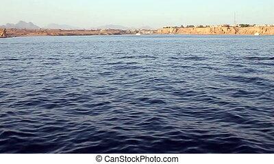 déplacer au-delà, a, plage, dans, les, egypte