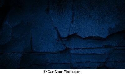 déplacer au-delà, pierre mural, soir