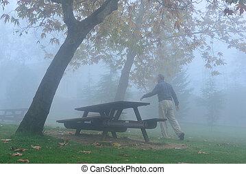 déprimé, brouillard