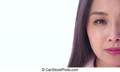 déprimé, femme, triste, japonaise, asiatique
