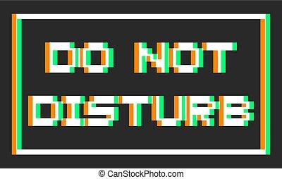 déranger, visuel, pas, message