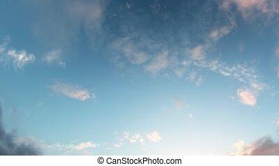 dérive, dissoudre, timelapse, wispy, nuages