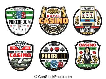 dés poker, casino, cartes, jeux, pari