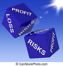 dés, profit, incomes, perte, projection, risques