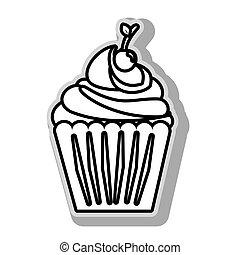 désert, délicieux, petit gâteau