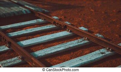 désert, ferroviaire, pistes, abandonnés