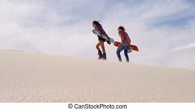 désert, marche, couple, conseils, 4k, sable