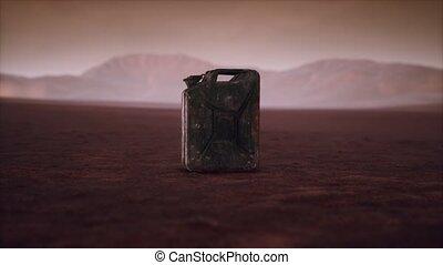 désert, rouillé, boîte métallique, carburant, vieux