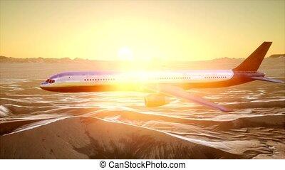 désert, vue, avion, sur