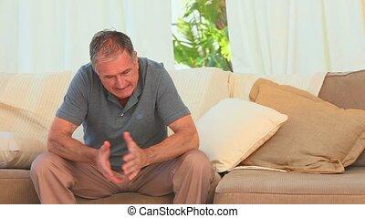 désespoir, sien, divan, séance homme
