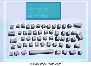 désordre, clavier