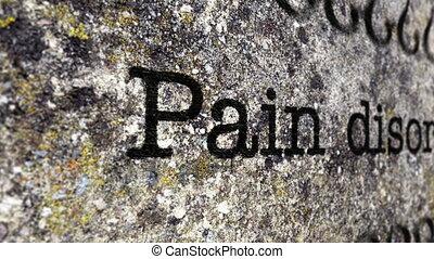 désordre, concept, grunge, douleur