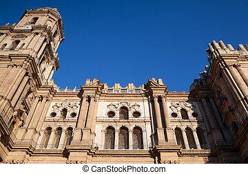détail, cathédrale, de, malaga