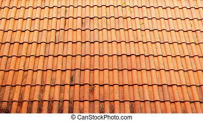 détail, de, a, toit, lisbonne, portugal